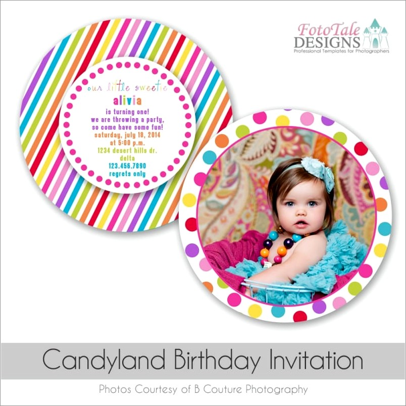 Downloadable Candyland Invitation Free Template
