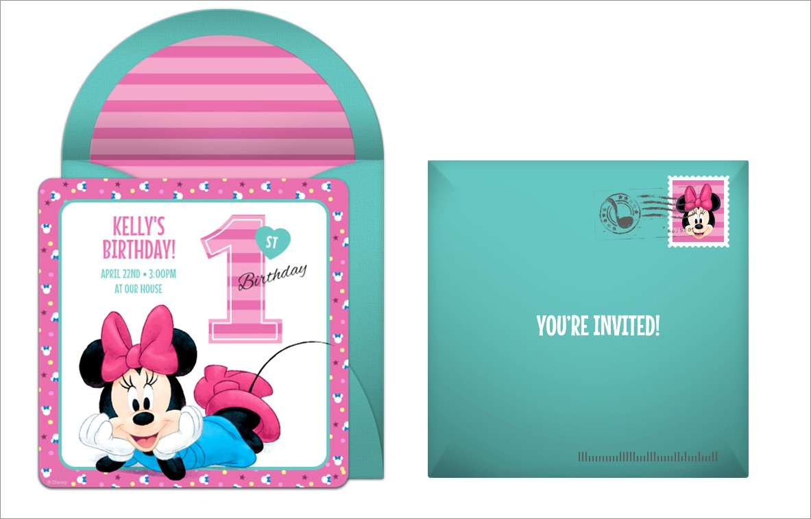 Downloadable Minnie Mouse Birthday Invitations