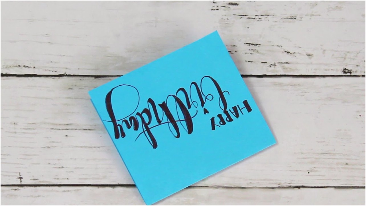 Easy Happy Birthday Hand Lettering