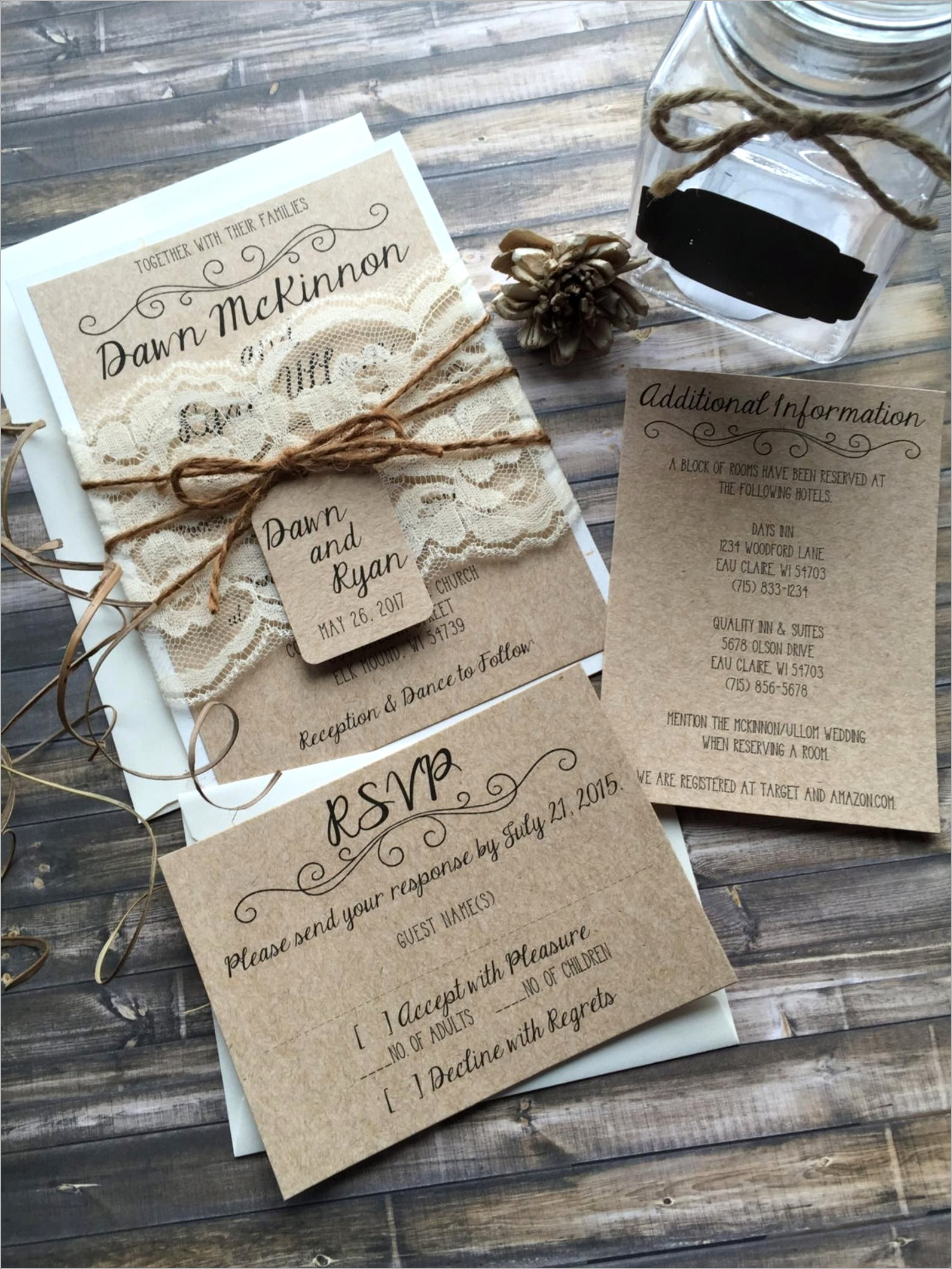 Elegant Vintage Wedding Invitations