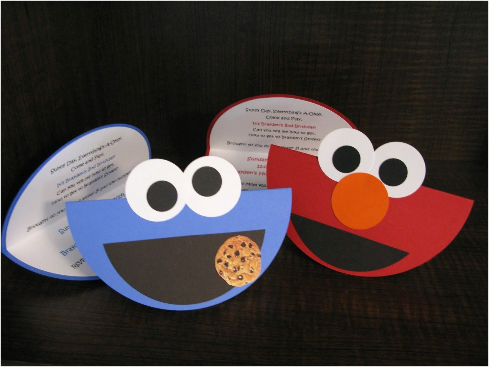 Elmo And Cookie Monster Birthday Invitations