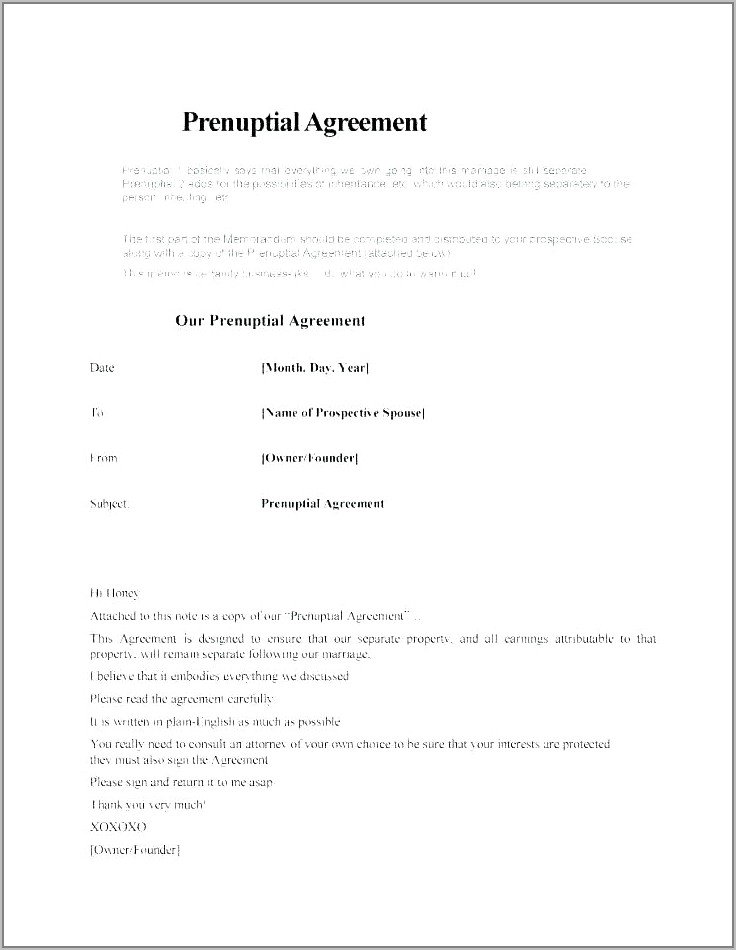 Employee Contract Word Format