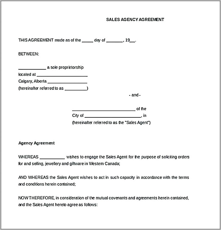 Employment Agency Agreement Template Free