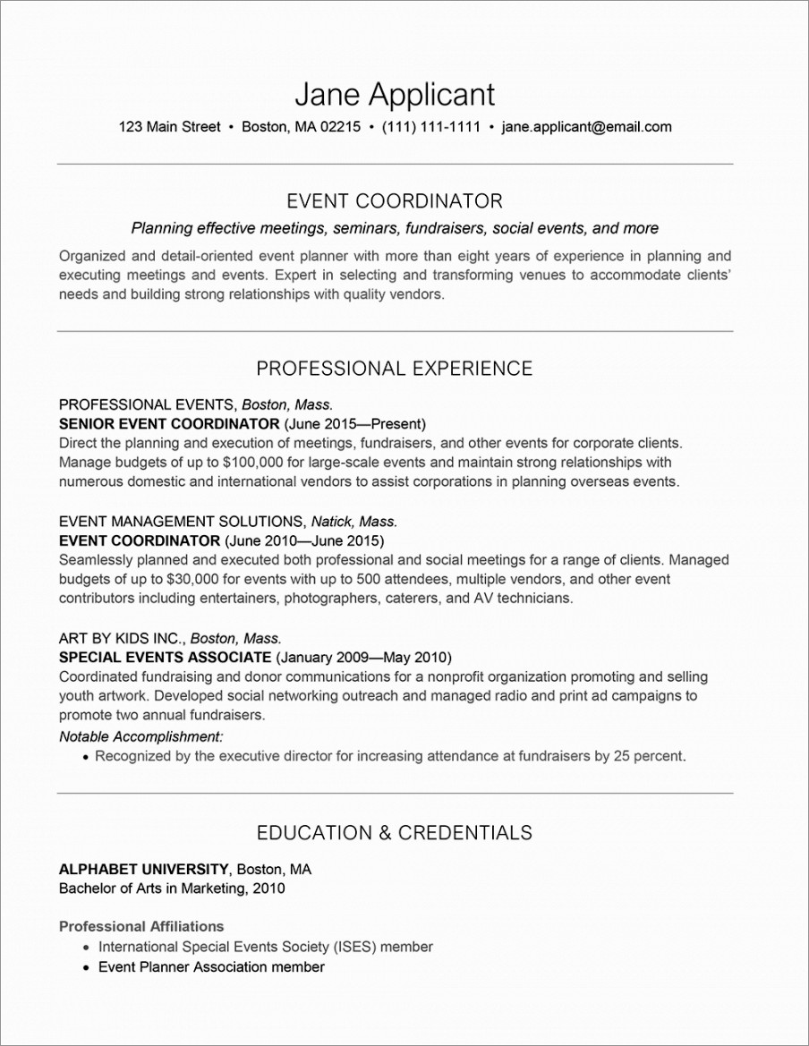 Event Planner Cover Letter Samples