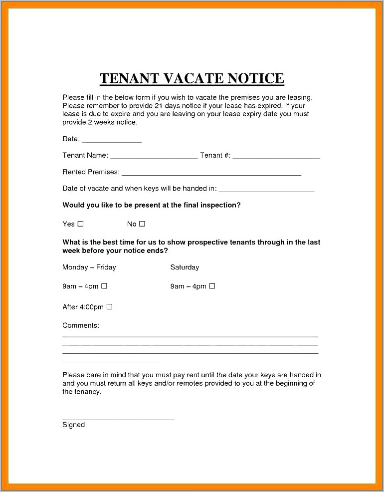 Example Of Eviction Notice Uk