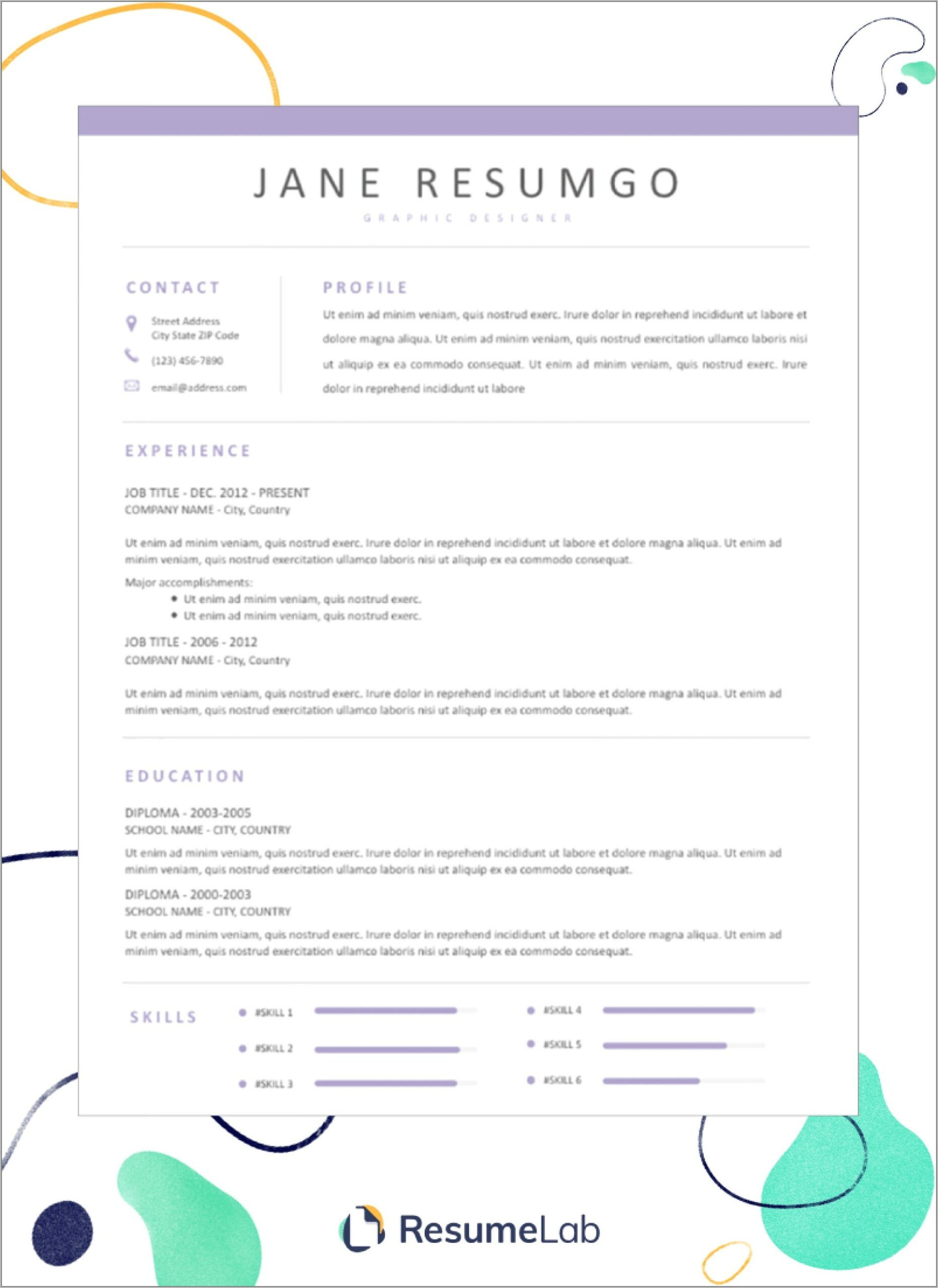 Example Resume Template Word