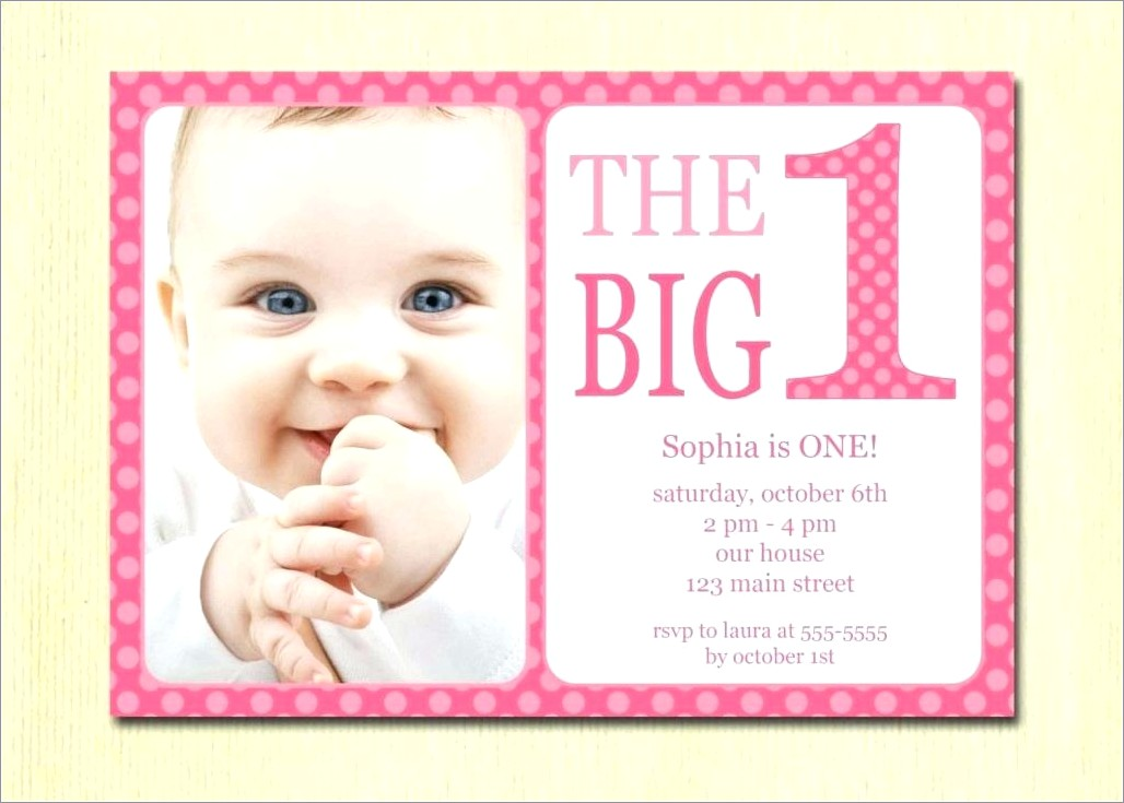 First Birthday Invitation Card Online India