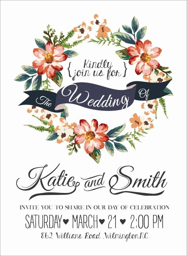 Floral Wedding Invitations Png