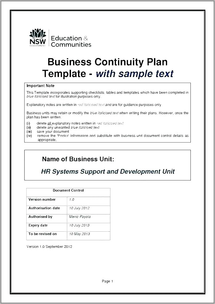 Free Business Plan Template Uk Small Business