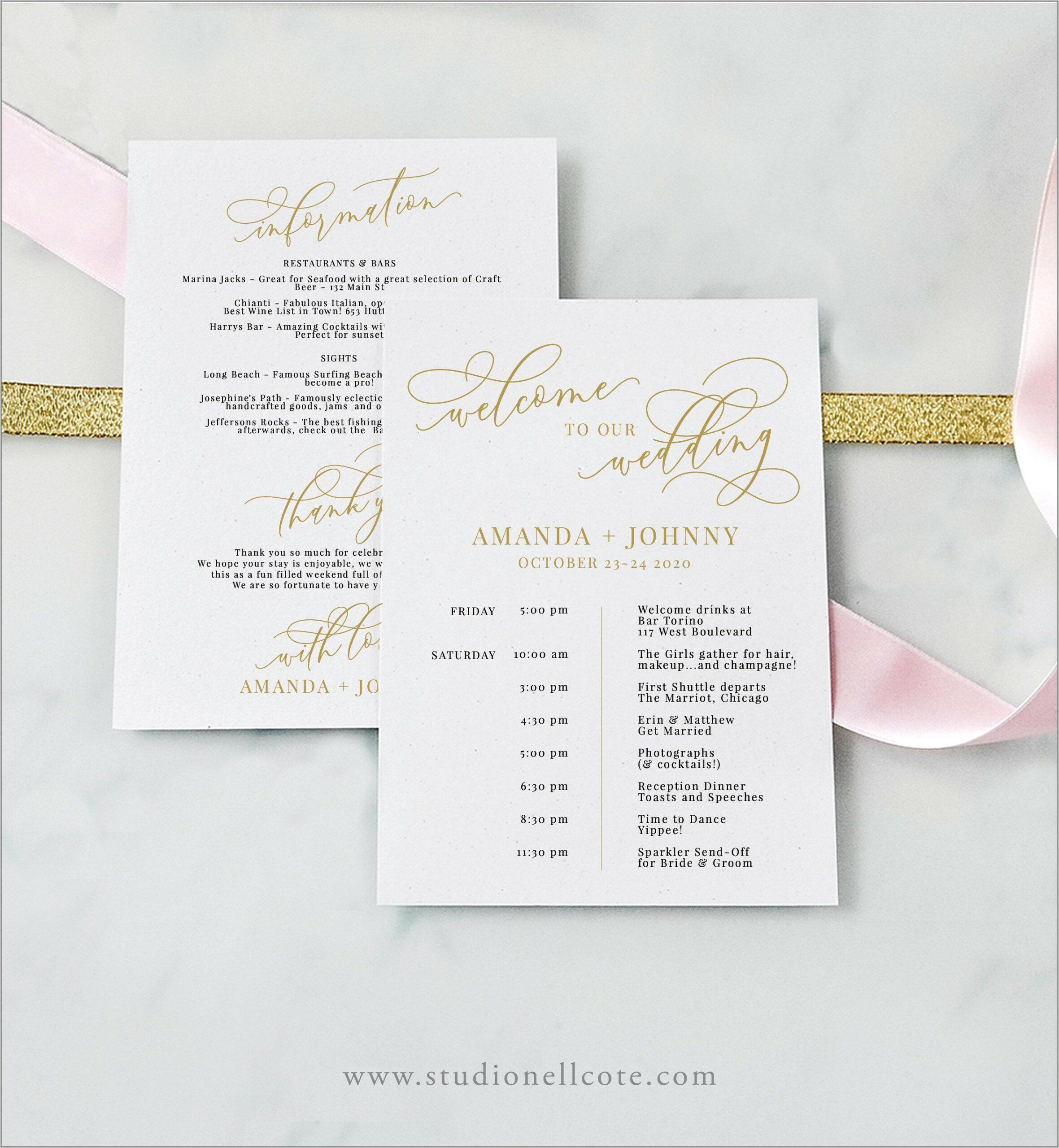 Free Destination Wedding Welcome Letter Template