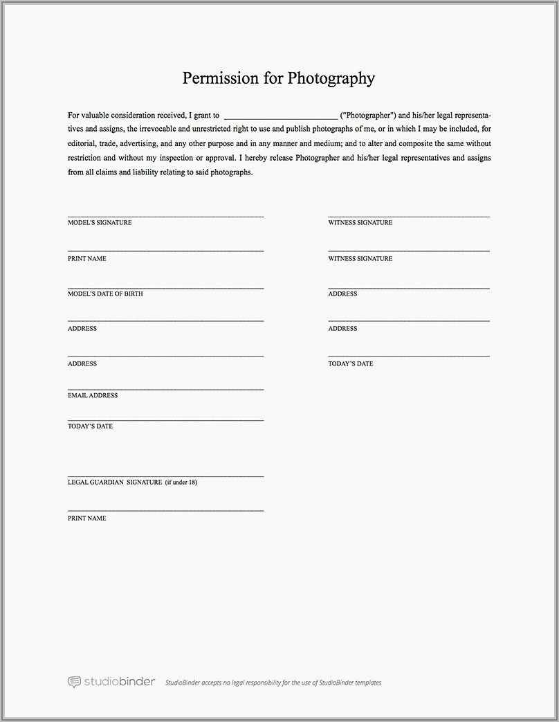 Free General Release Of Liability Form Template
