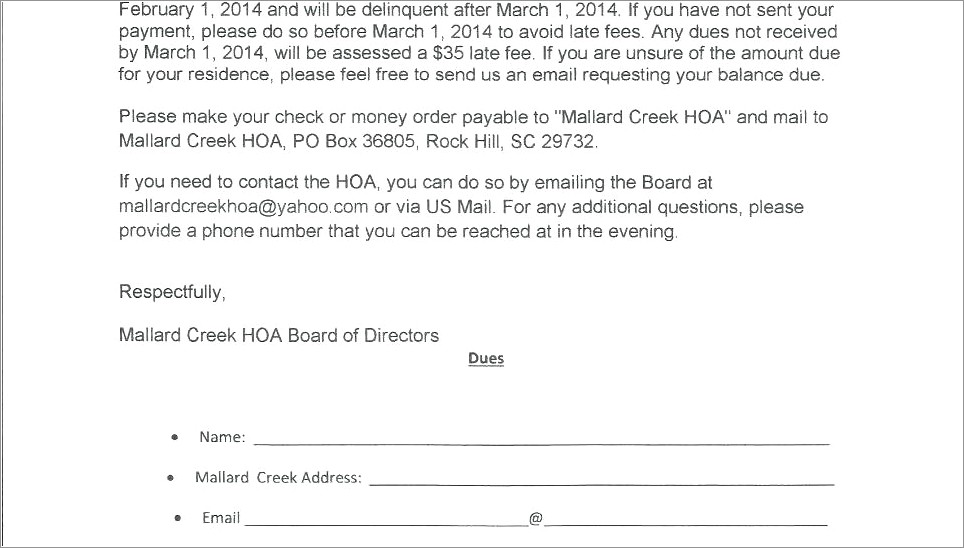 Free Hoa Violation Letter Template