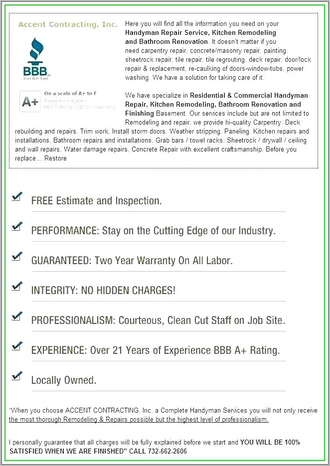 Free Home Remodeling Contract Template