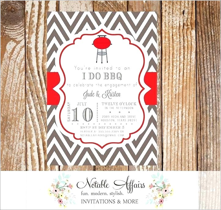 Free I Do Bbq Invitation Template