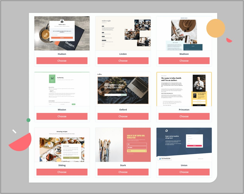 Free Landing Page Templates For Mailchimp