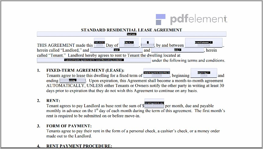 Free Landlord Tenant Lease Agreement Template (100)
