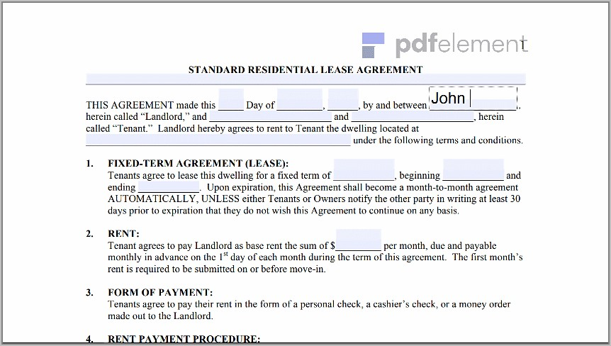 Free Landlord Tenant Lease Agreement Template (183)