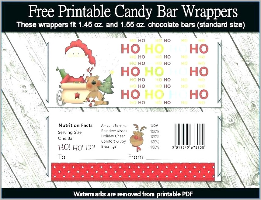 Free Printable Templates For Candy Bar Wrappers
