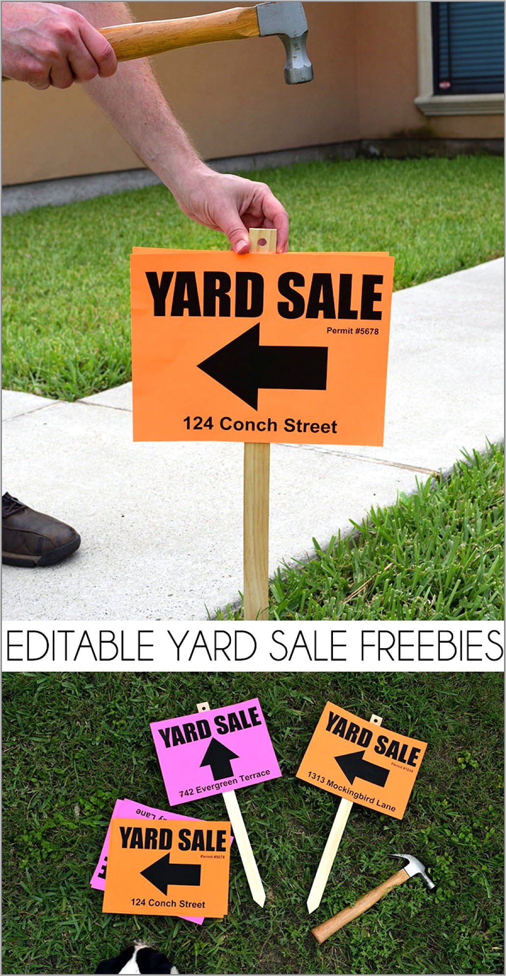 Free Printable Yard Sale Signs Templates