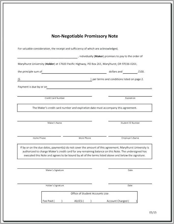 Free Promissory Note Template Philippines