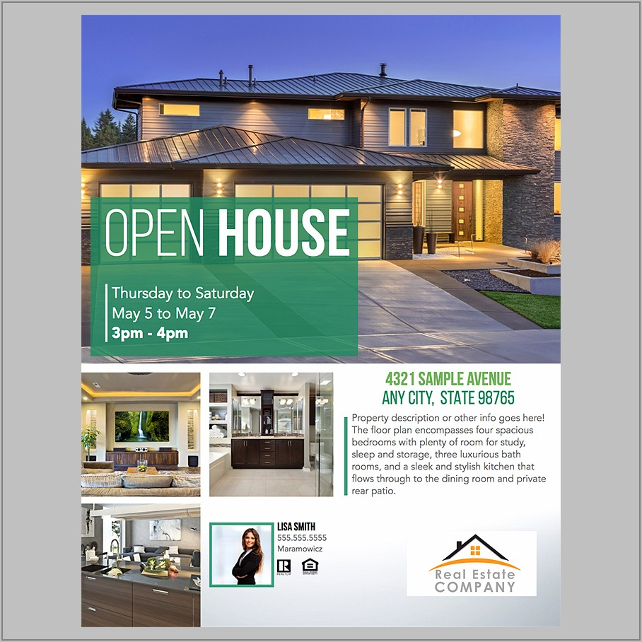 Free Real Estate Flyers Templates In Word