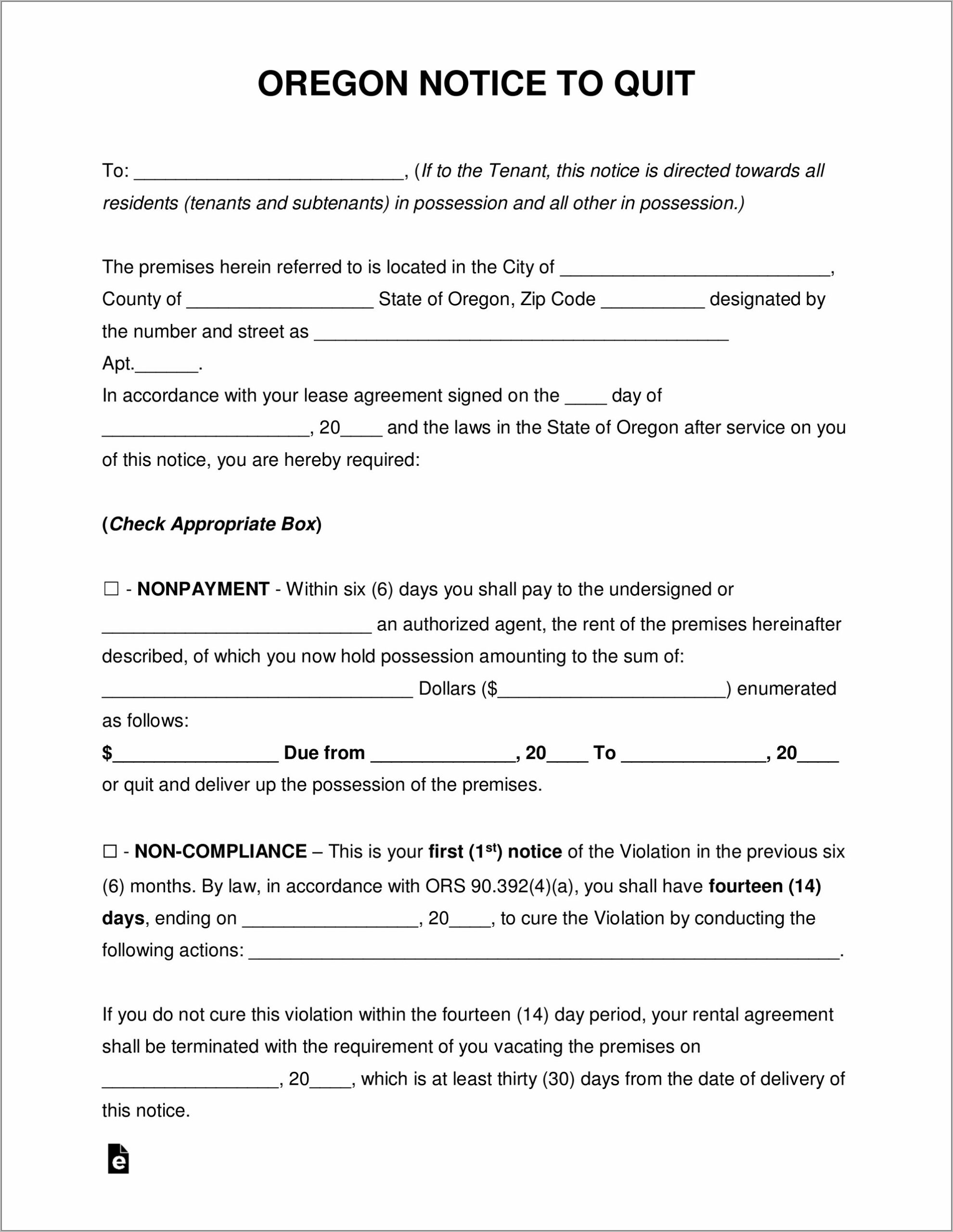 Free Roommate Eviction Notice Form