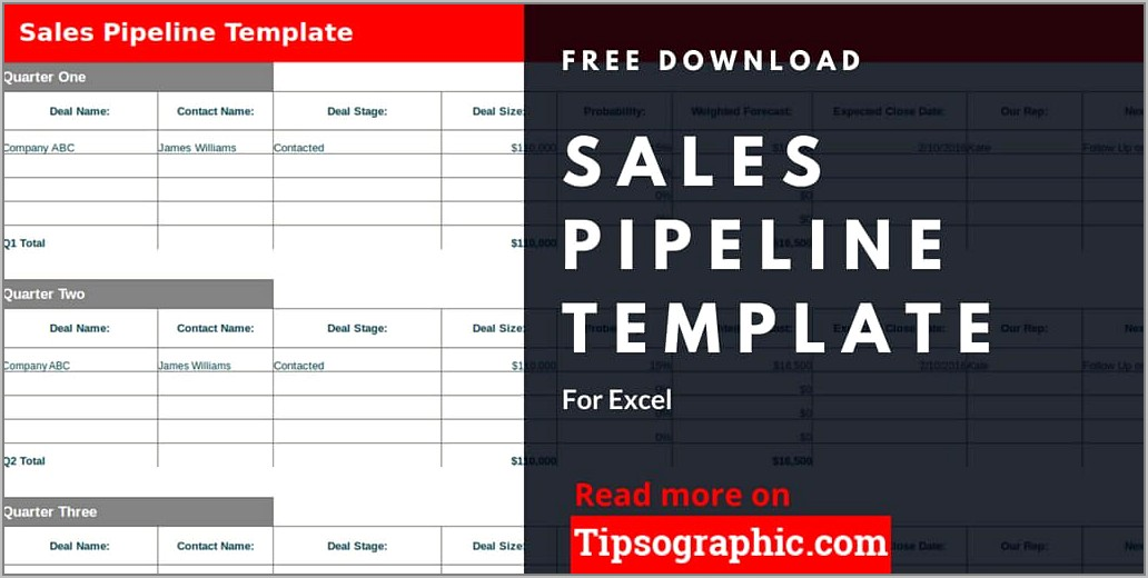 Free Sales Pipeline Template Download