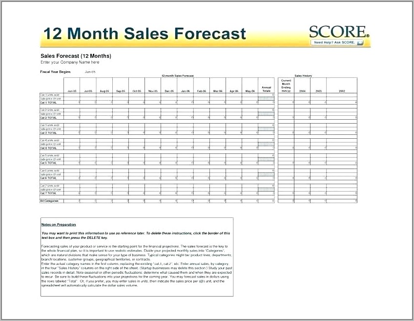 Free Simple Sales Forecast Template