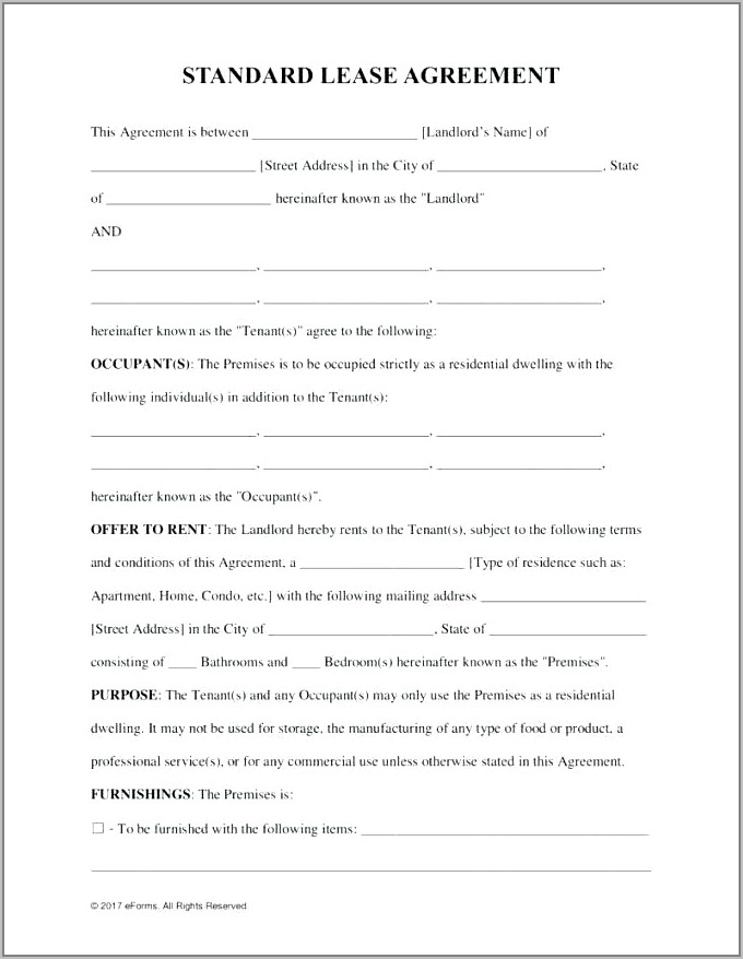 Free Storage Lease Agreement Template