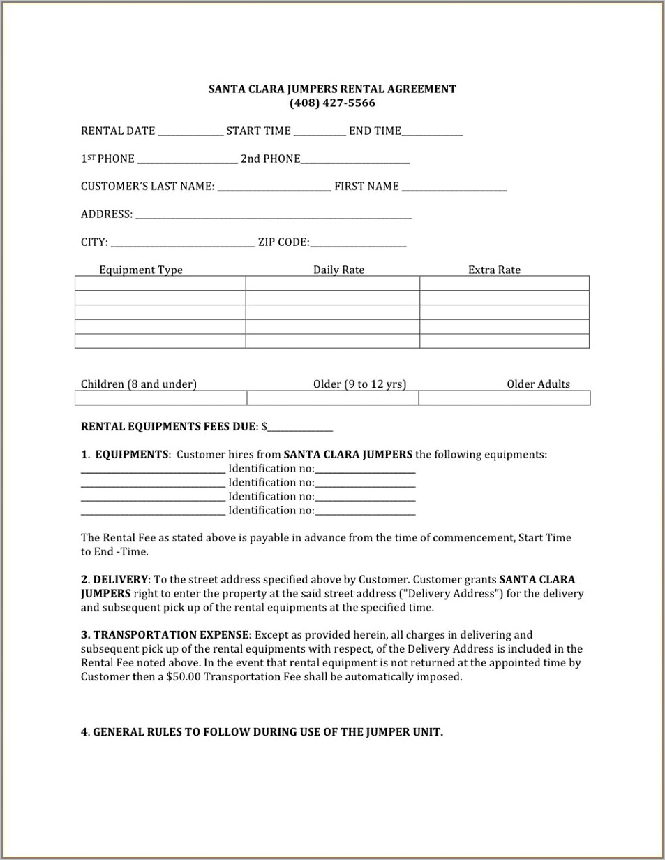 Free Templates For Land Lease Agreements