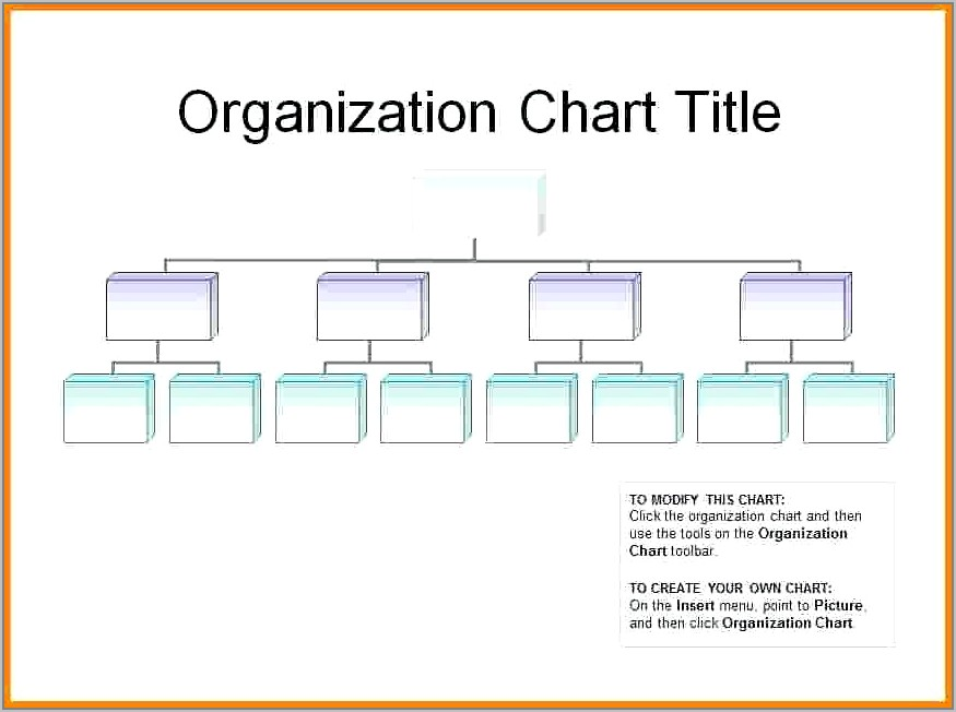 Free Templates For Organization Charts