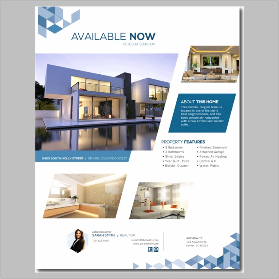 Free Templates For Real Estate Brochures