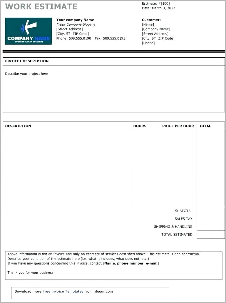 Free Window Cleaning Quote Template