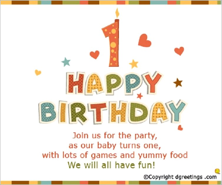 Funny First Birthday Invitation Wordings In Tamil