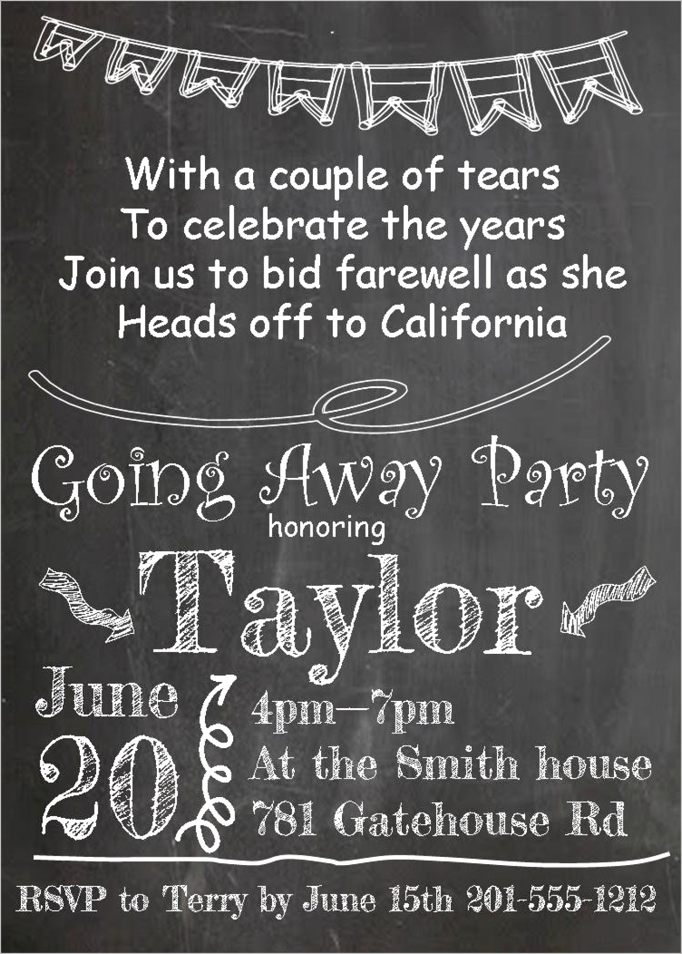 Going Away Invitations Free