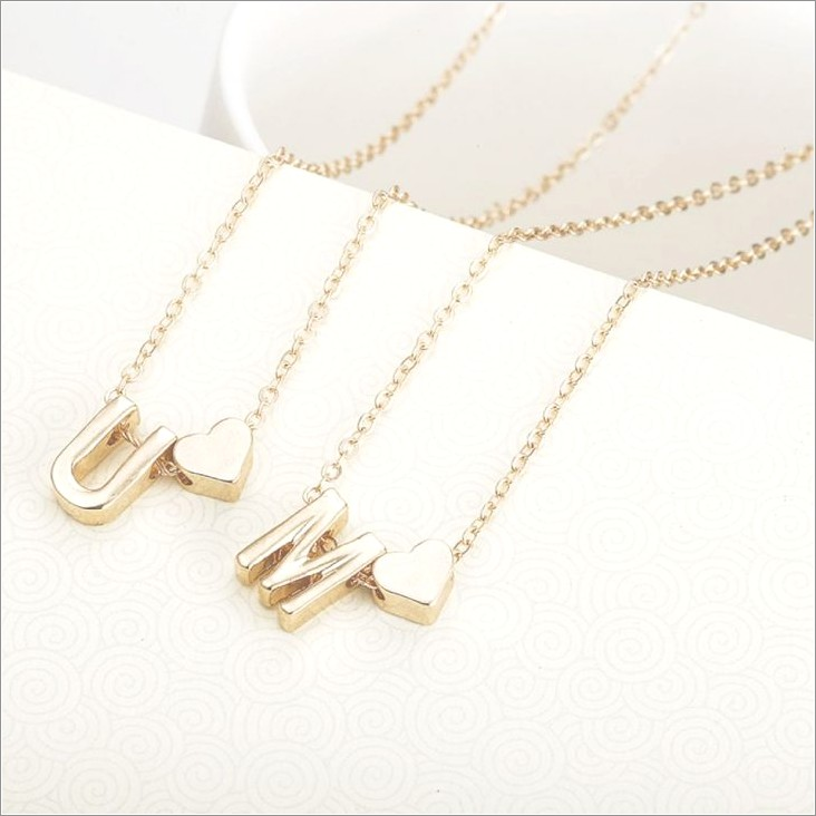 Gold Letter Necklace Celine