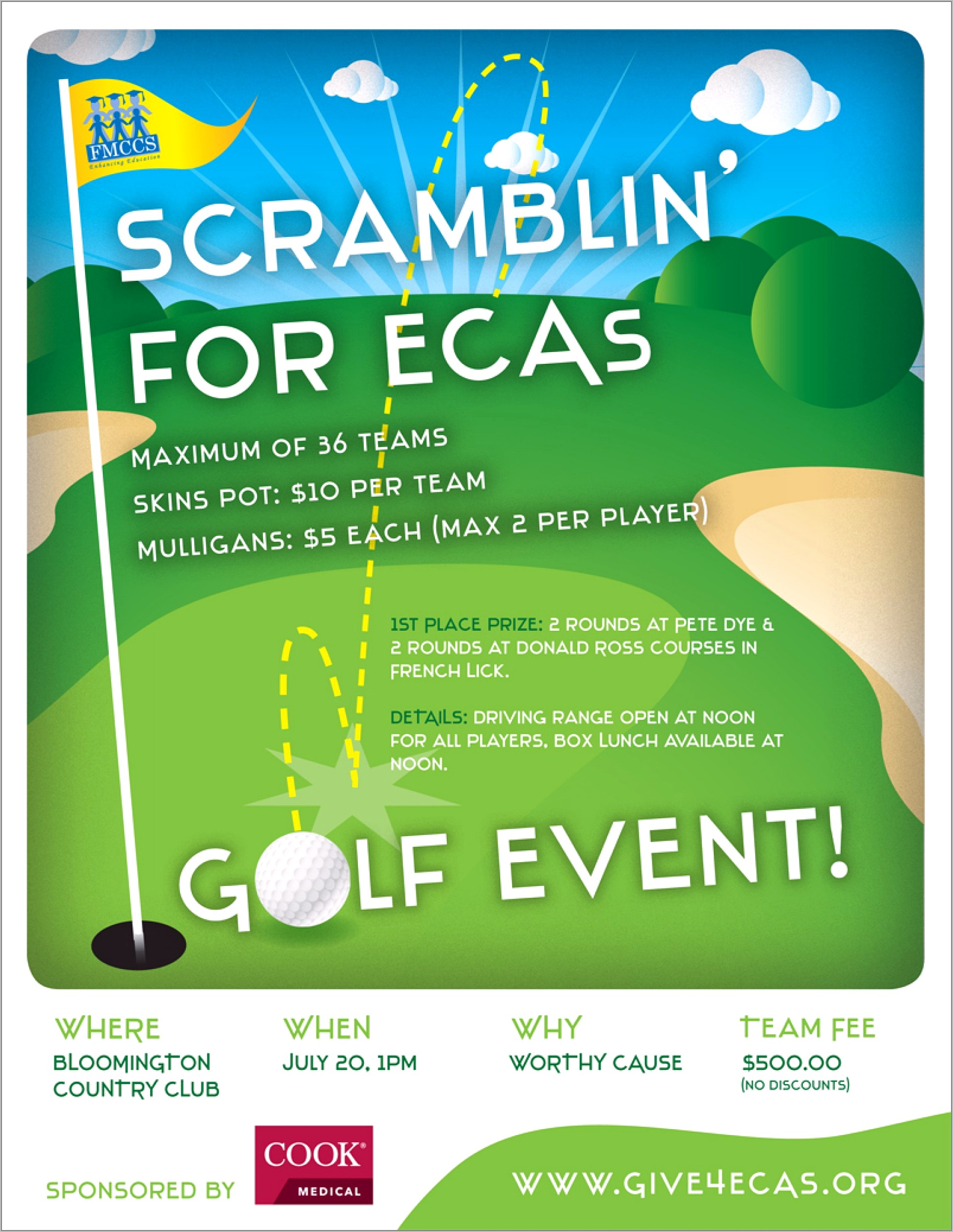 Golf Event Flyer Template Free