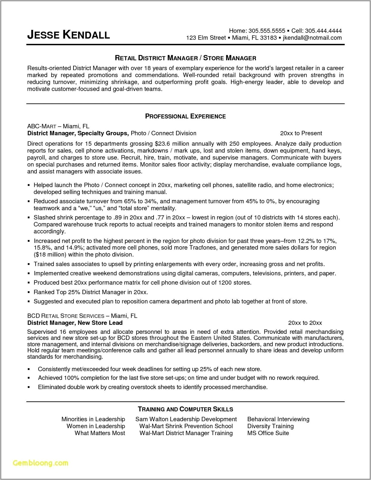 Good Resume Objectives For Retail Jobs