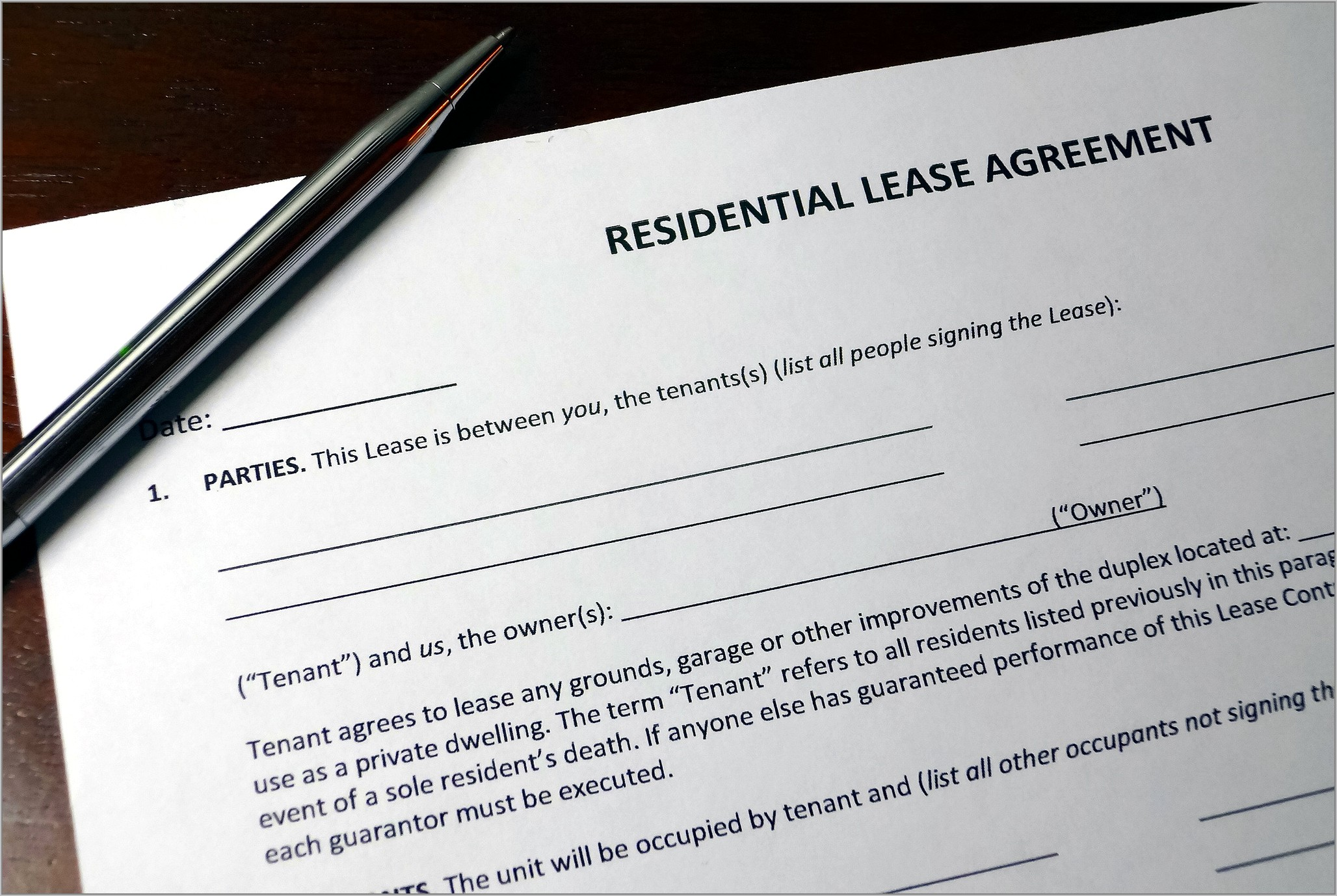 Government Standard Lease Form Ontario