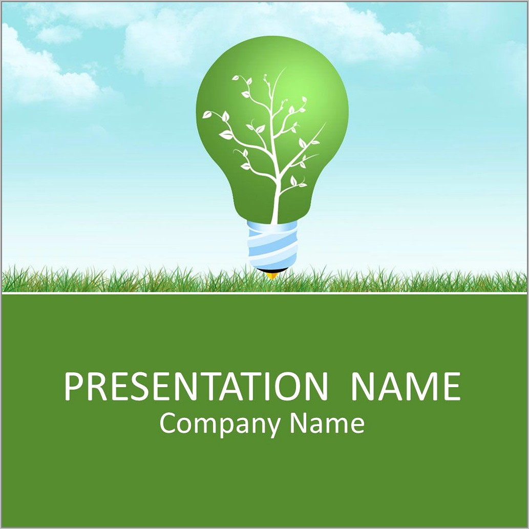 Green Energy Ppt Template Free