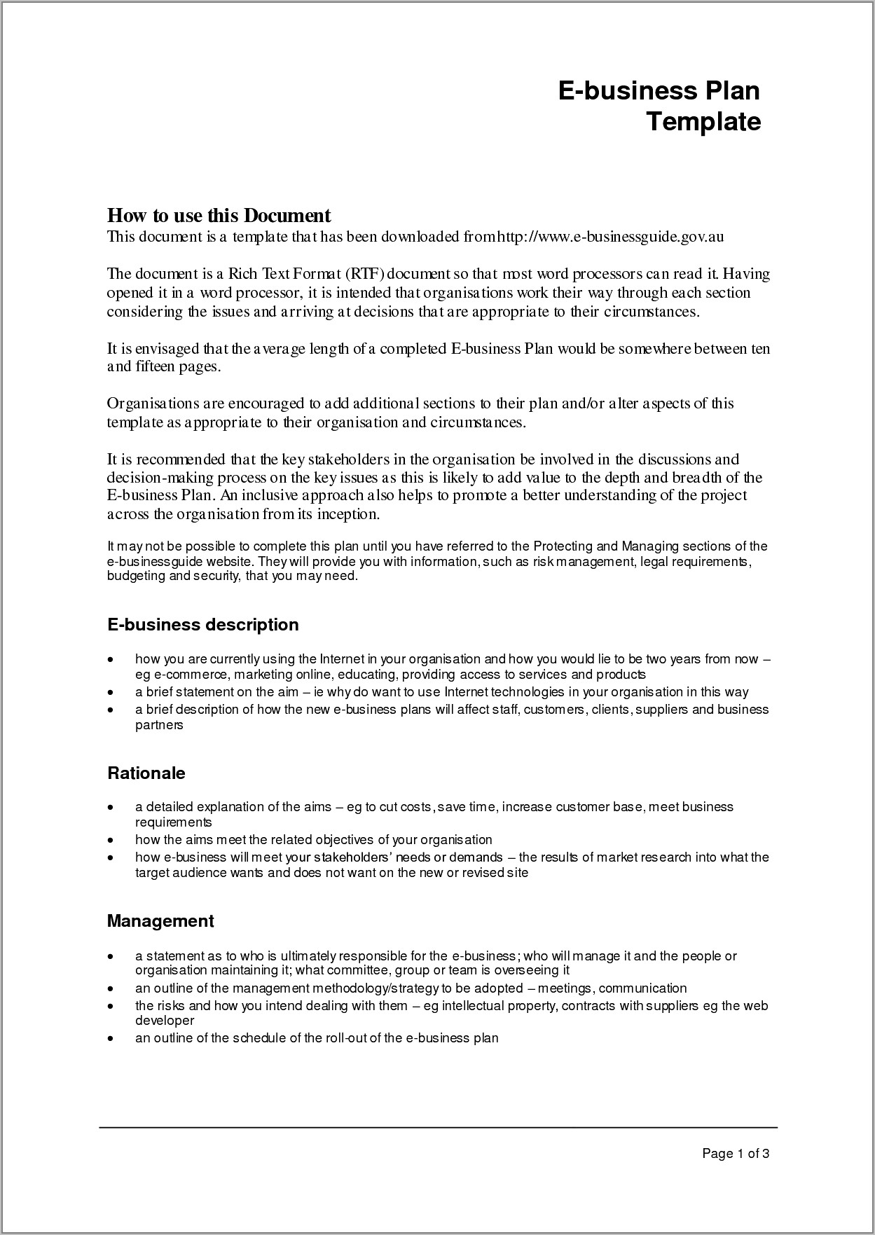 Growthink Ultimate Business Plan Template Doc
