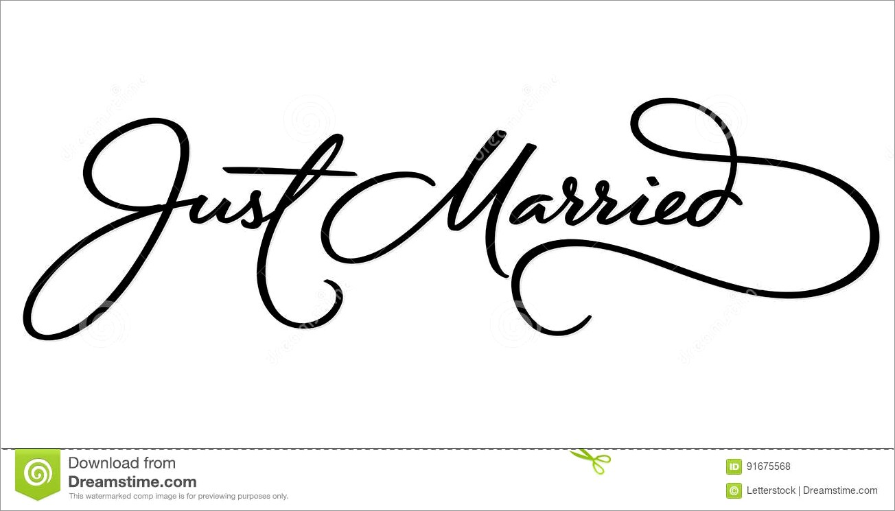 Hand Lettering Just Married