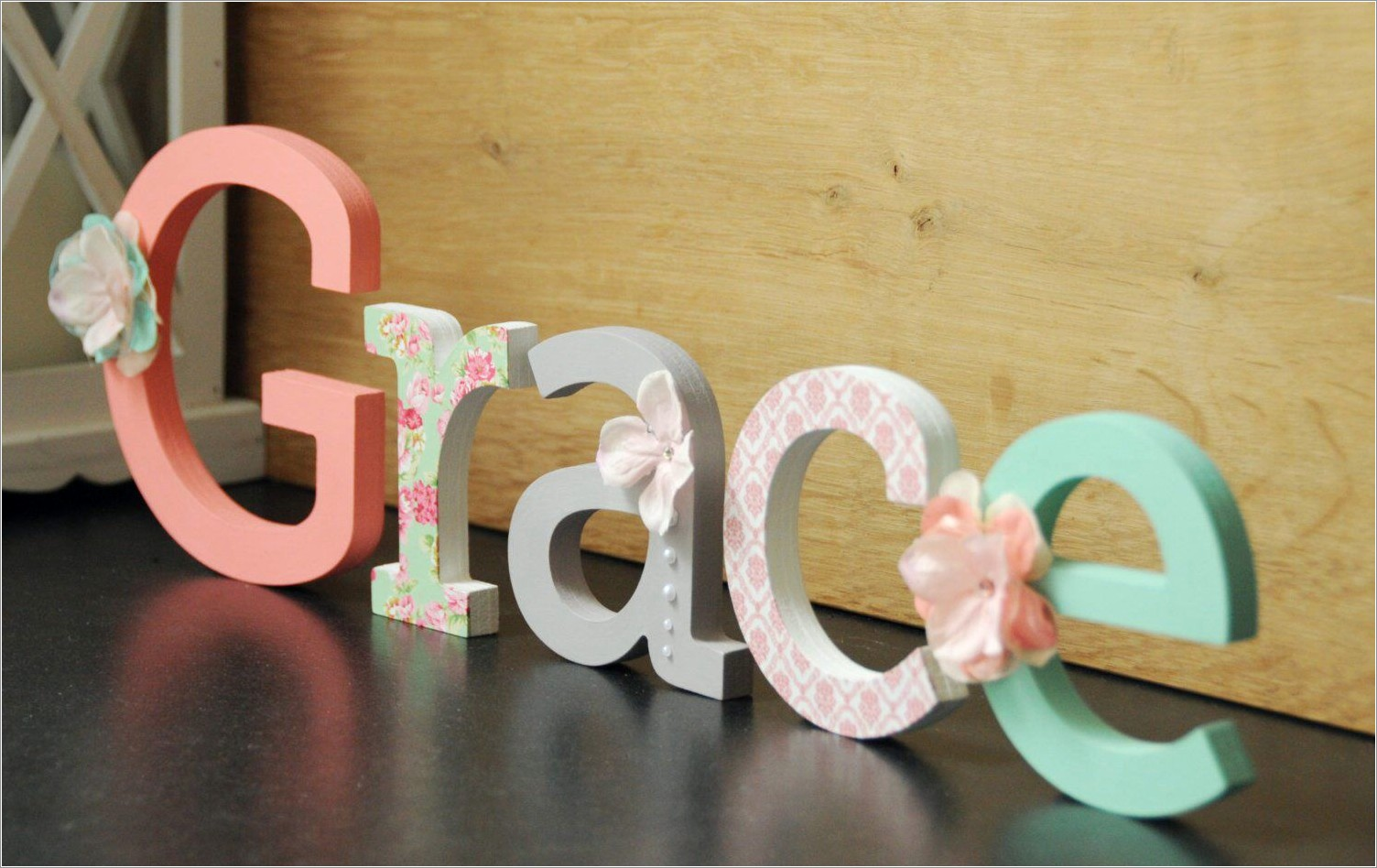 Hand Painted Wooden Letters For Nursery