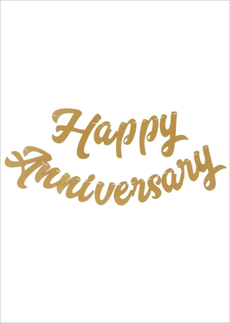 Happy Anniversary Lettering Banner