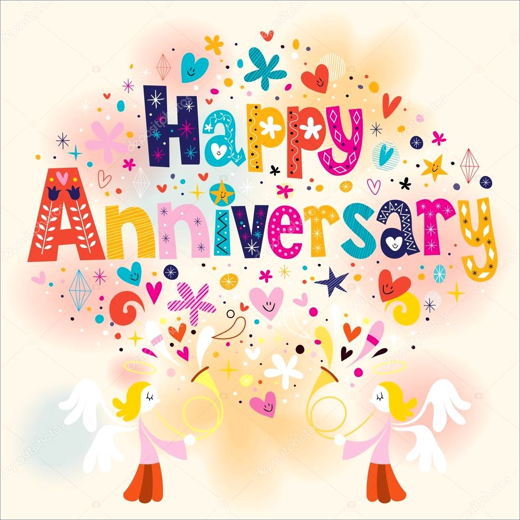 Happy Anniversary Lettering Design