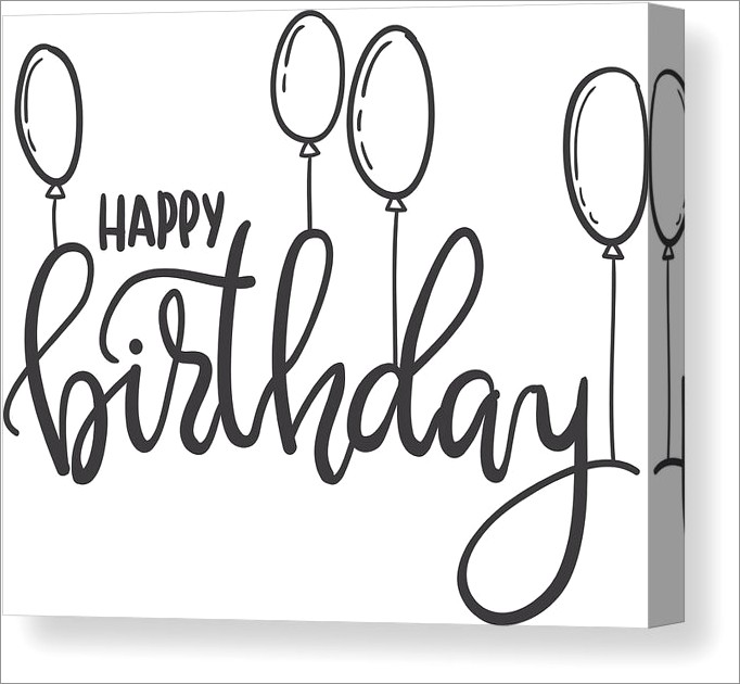 Happy Birthday Hand Lettering Png