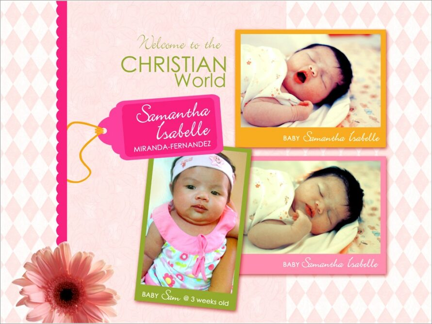 Happy Christening Invitation Card