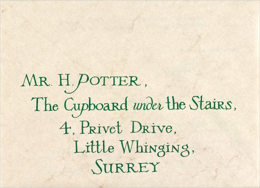 Harry Potter Hogwarts Acceptance Letter Envelope