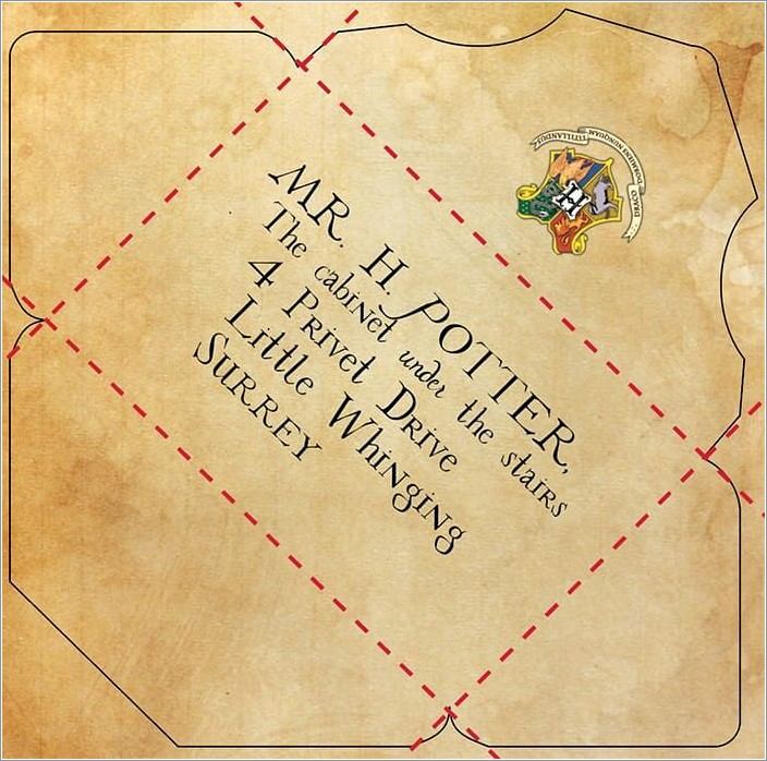 Harry Potter Hogwarts Letter Printable