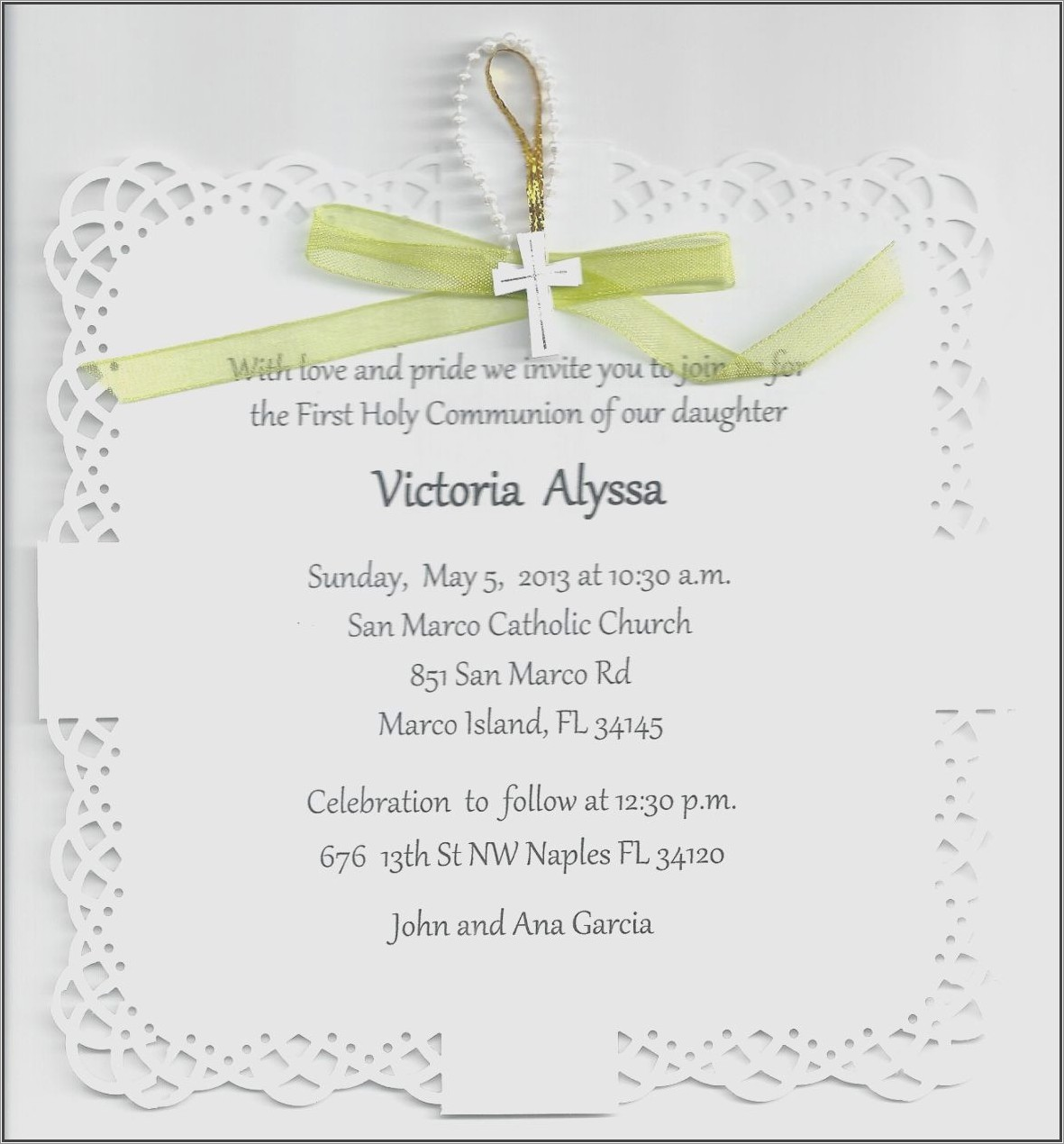 Holy Communion Invitation Wording In Tamil